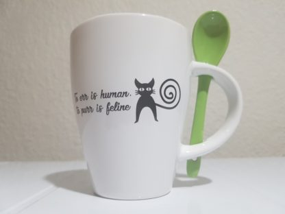 To Err is Human, to Purr is Feline - Lime Green