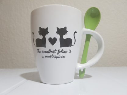 The Smallest Feline is a Masterpiece - Lime Green