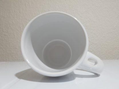NCat two-tone mug - top view - White