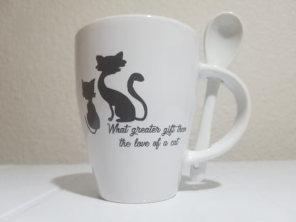 What Greater Gift than the Love of a Cat - White