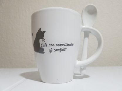Cats are Connoisseurs of Comfort - White