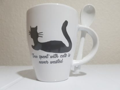 Time Spent with Cats is Never Wasted - White