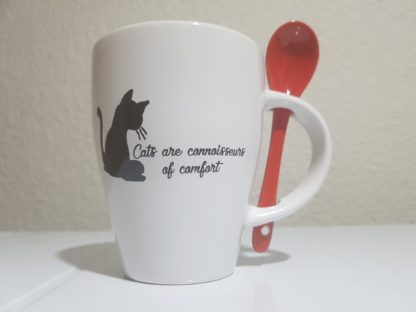 Cats are Connoisseurs of Comfort - Red