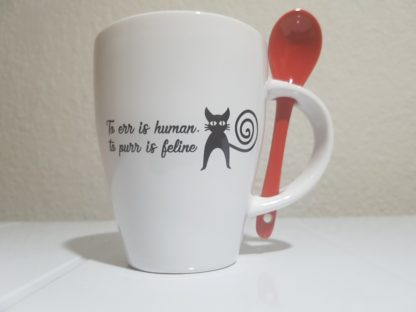 To Err is Human, to Purr is Feline - Red
