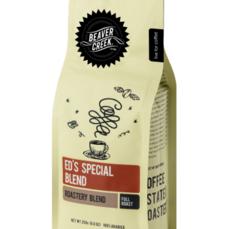 Ed's Special Blend is made up of a combination of South American, Cuban, Indonesian and African coffees.