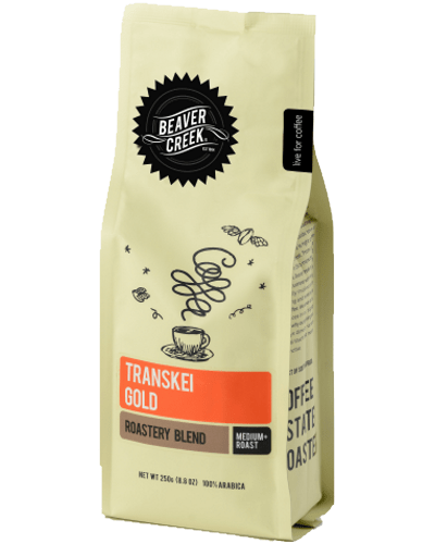 Transkei Gold is a medium plus roast by Beaver Creek Coffees with a true harmony of African flavour.