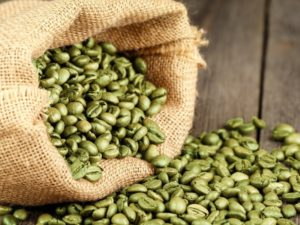Green Coffee Beans - used in making decaffeinated coffee